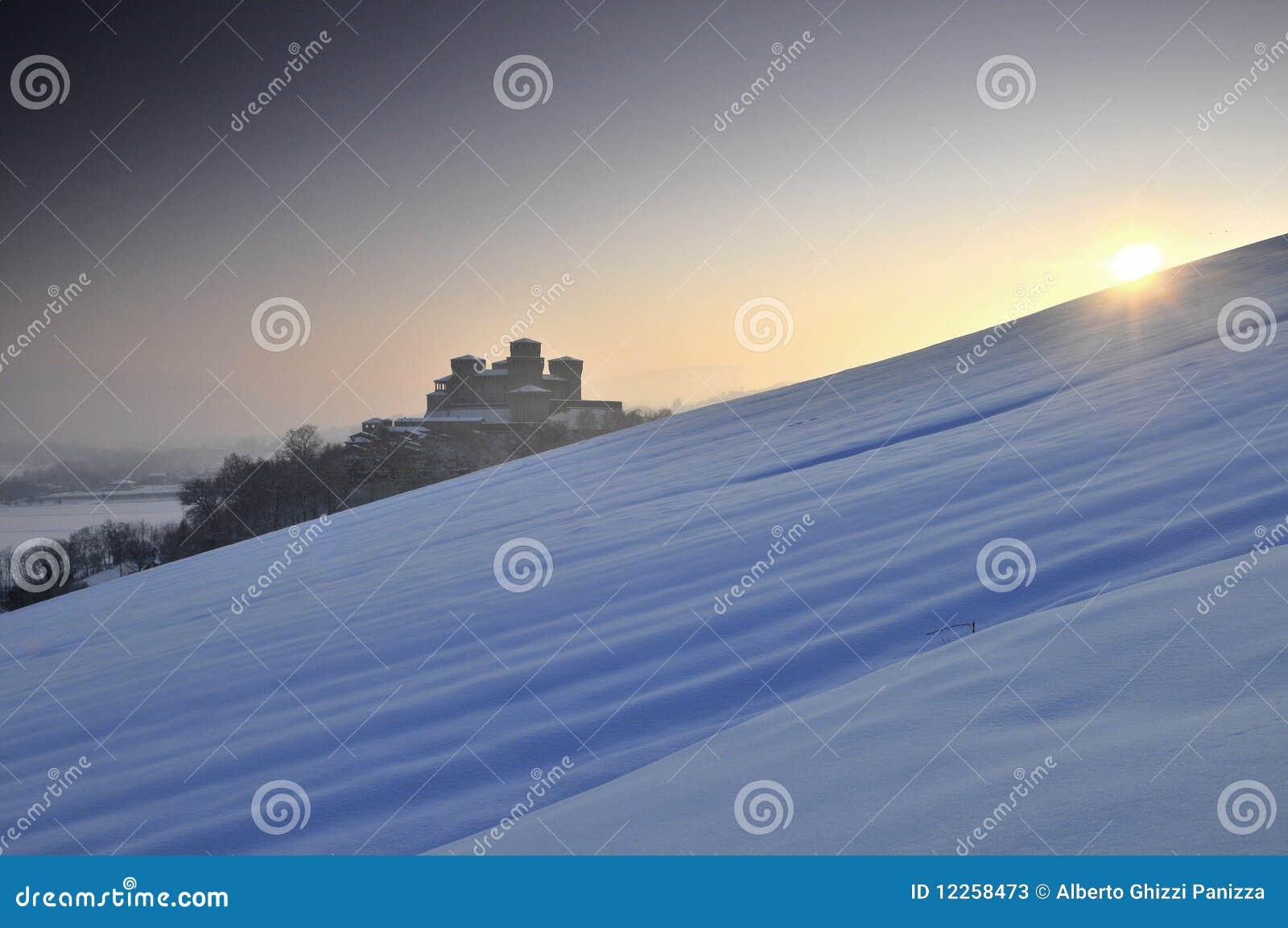 Torrechiara Castle on winter #2