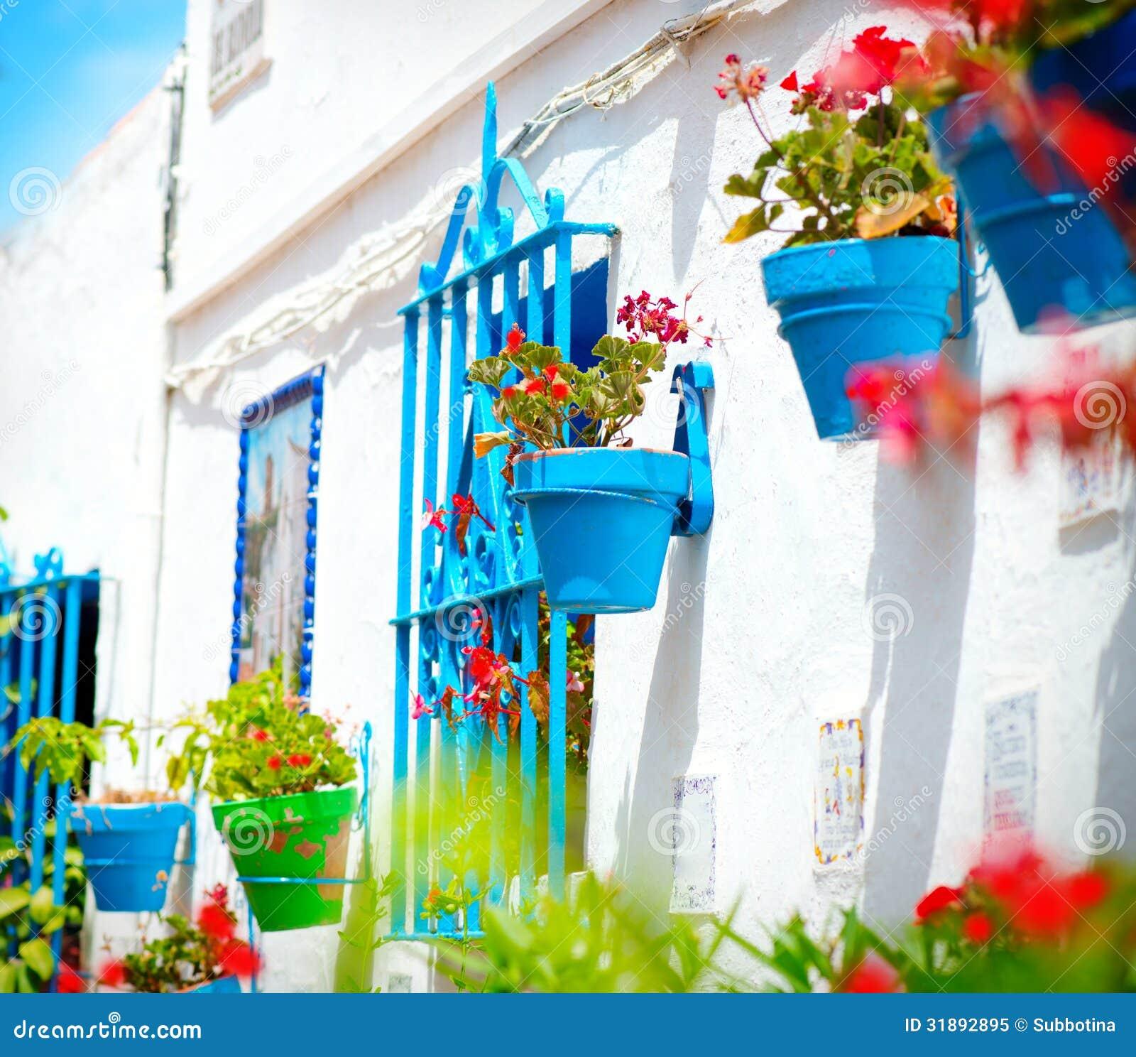 Torremolinos villaggio bianco spagnolo fotografia stock - Finestra in spagnolo ...