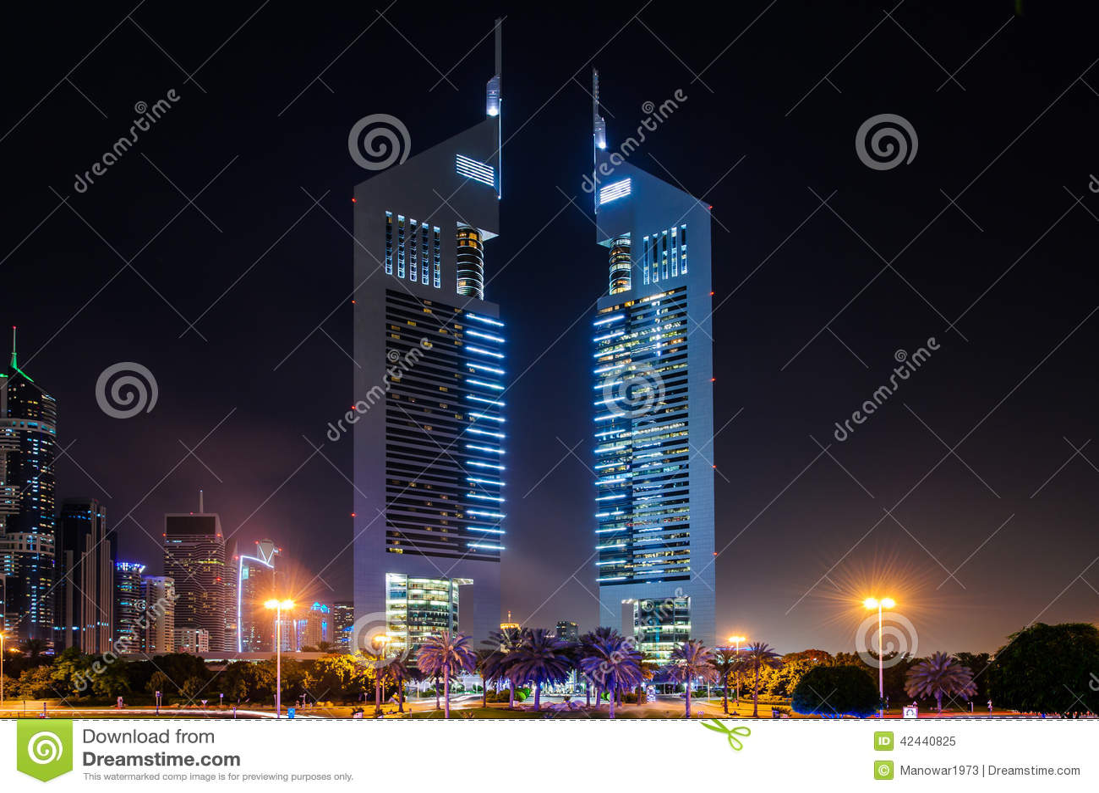 Torres de los emiratos, Dubai, UAE