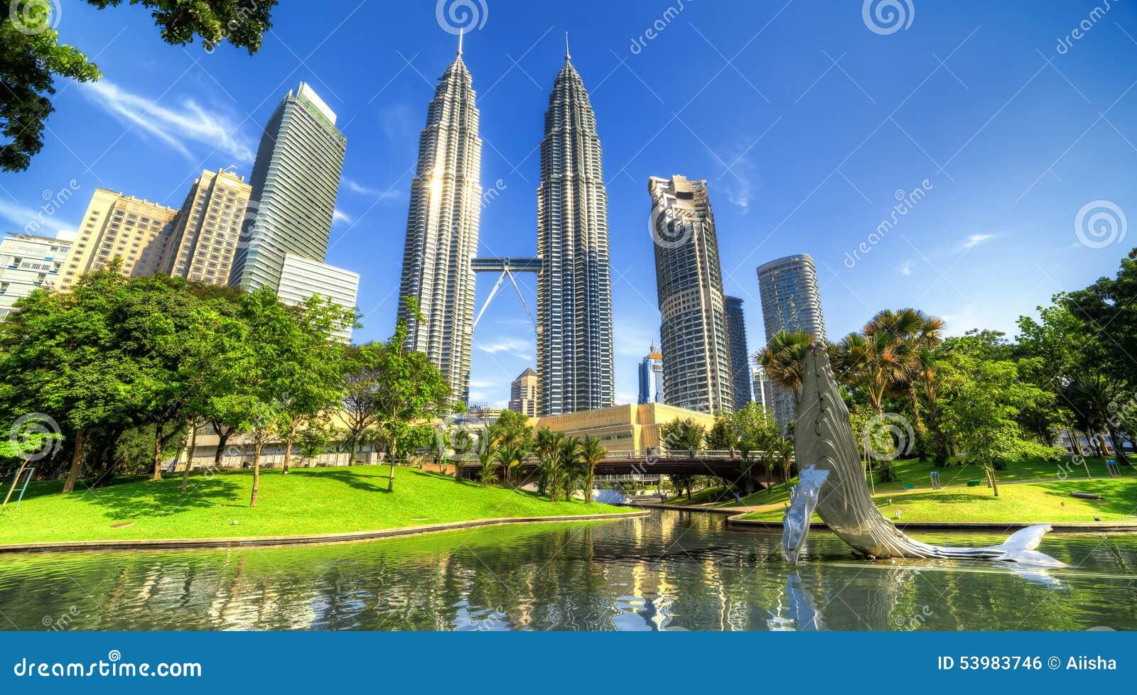 Torres de Petronas em Kuala Lumpur