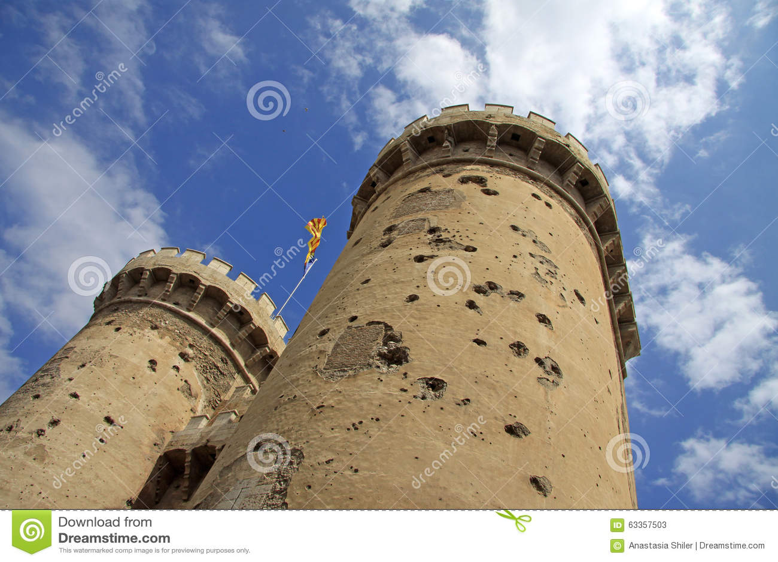 Torres de Quart, ένα μέρος του παλαιού χριστιανικού τοίχου πόλεων στη ΒΑΛΈΝΘΙΑ, ΙΣΠΑΝΙΑ
