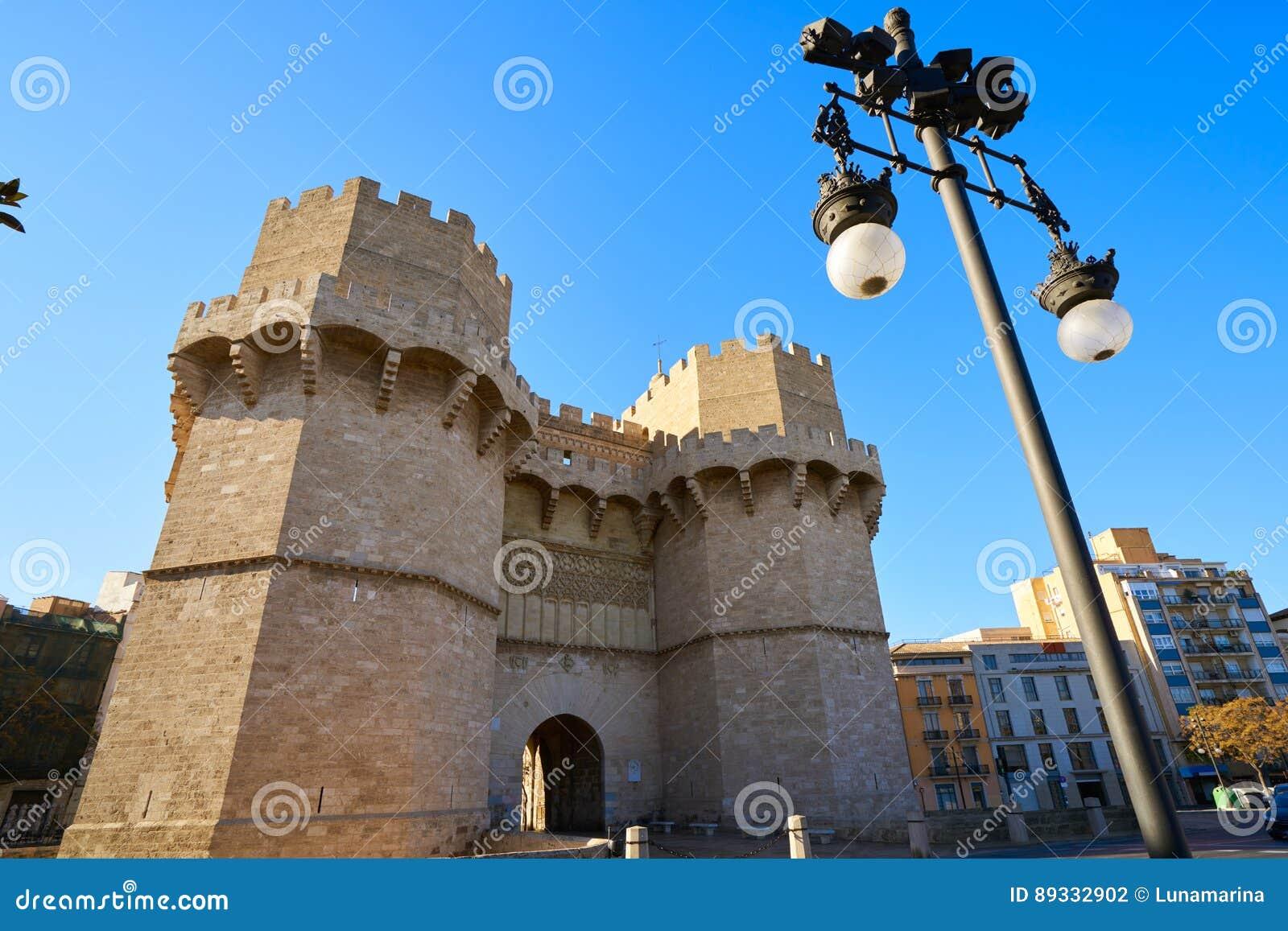 Torres De Serrano Towers In Valencia Stock Photo - Image: 89332902