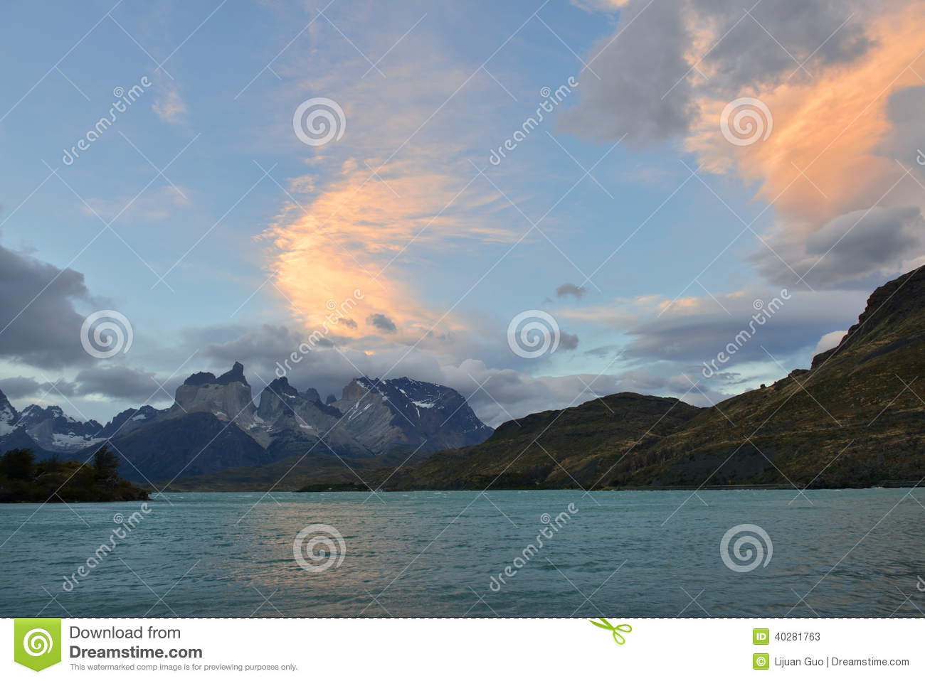 Torres del Paine at Sunset, Chile