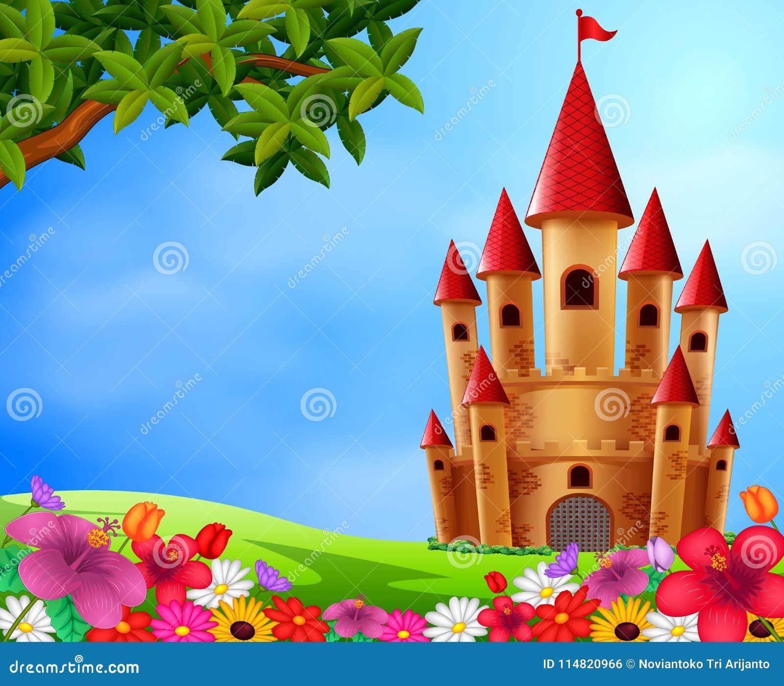 Torres do castelo no campo