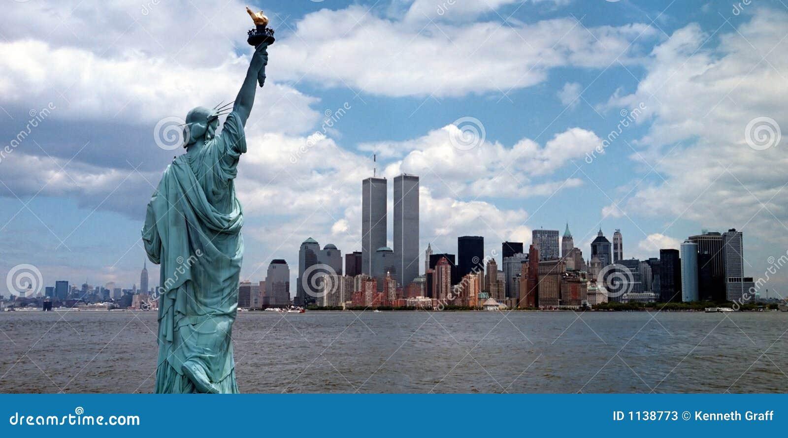 Torres gémeas do porto de New York