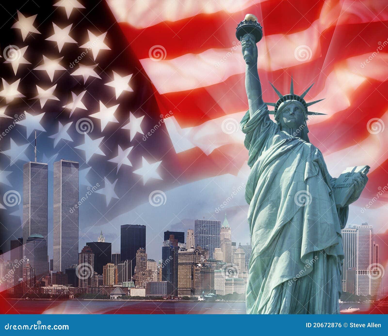 Torres gémeas - New York - símbolos patrióticos