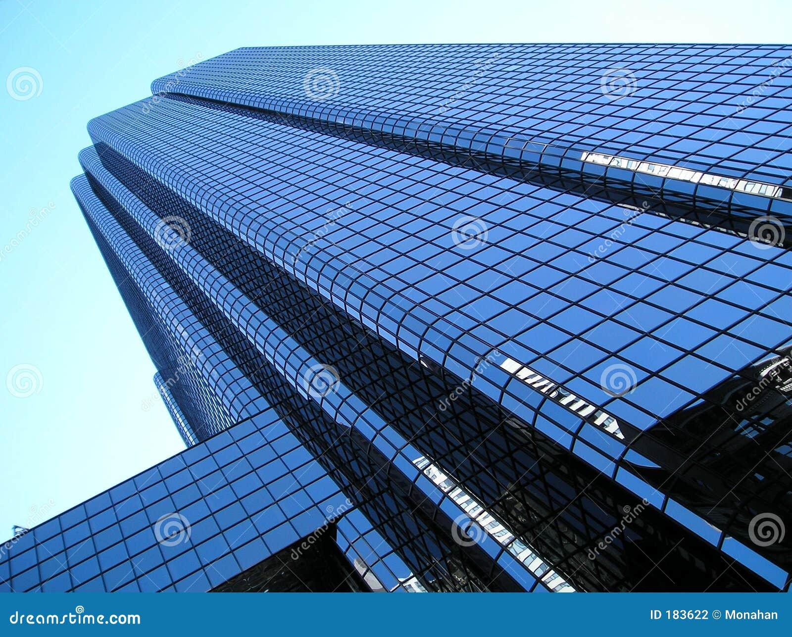 Torretta di vetro dell ufficio, ad angolo