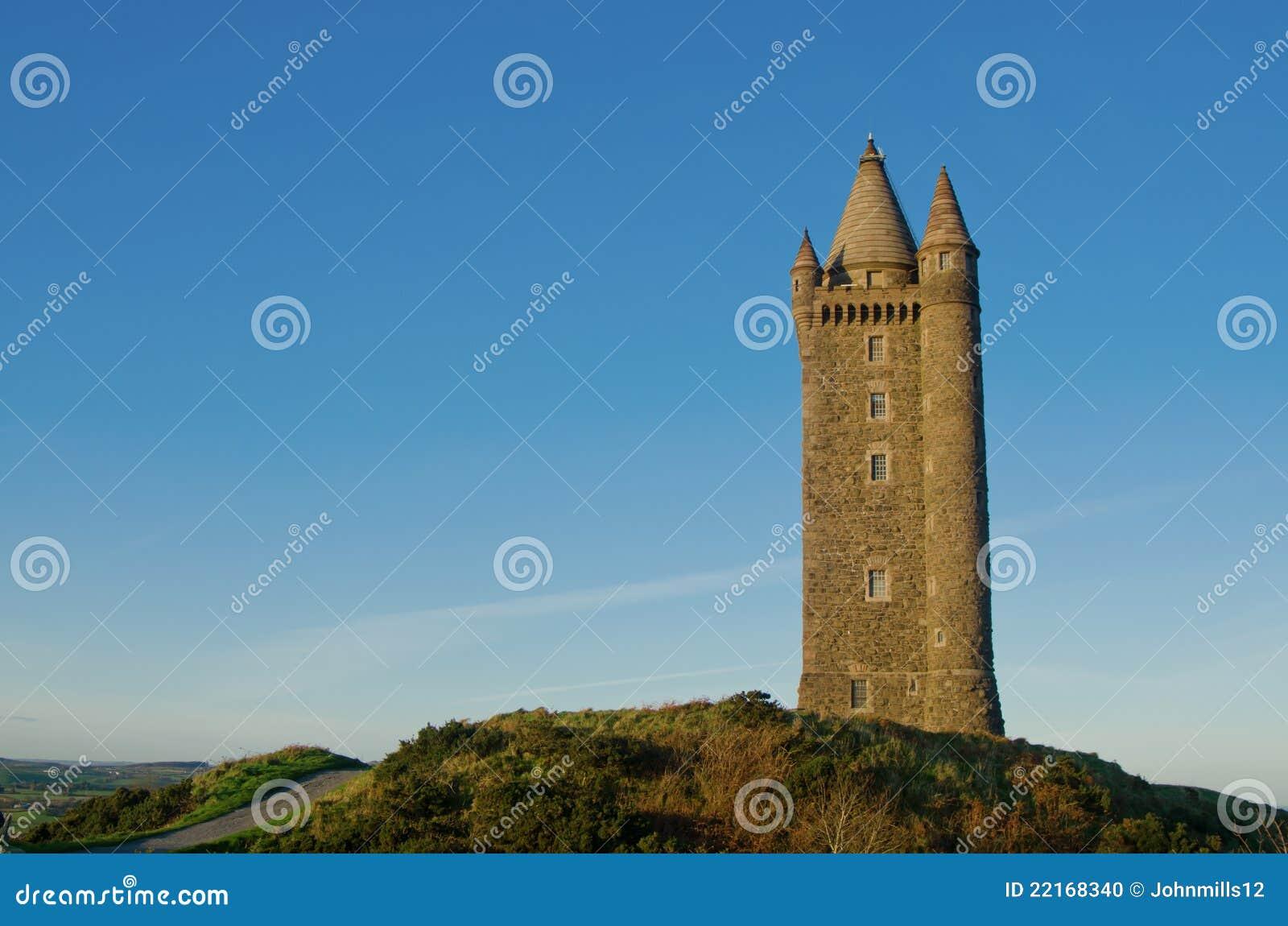 Torretta famosa di Scrabo in Irlanda del Nord