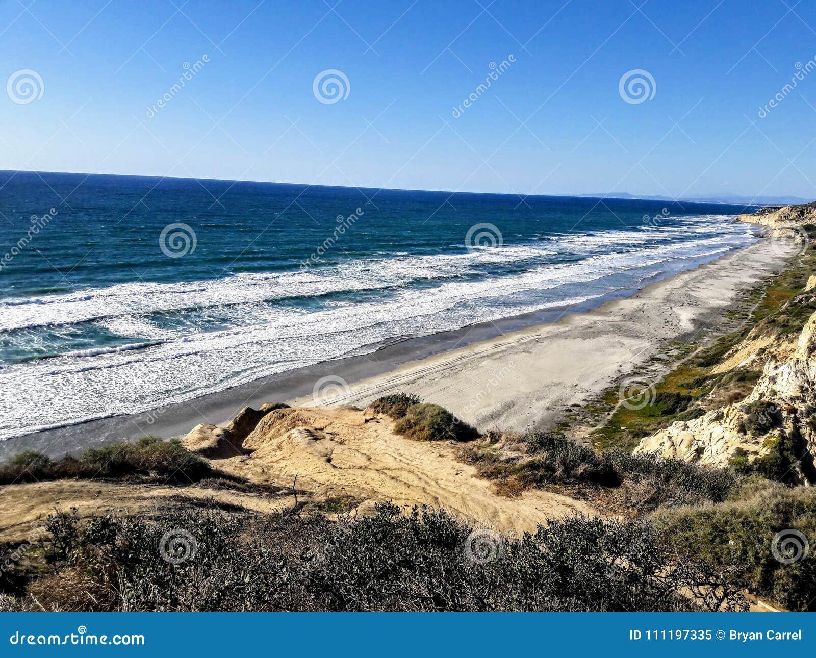 Torrey Pines State Beach - praia dos pretos - San Diego