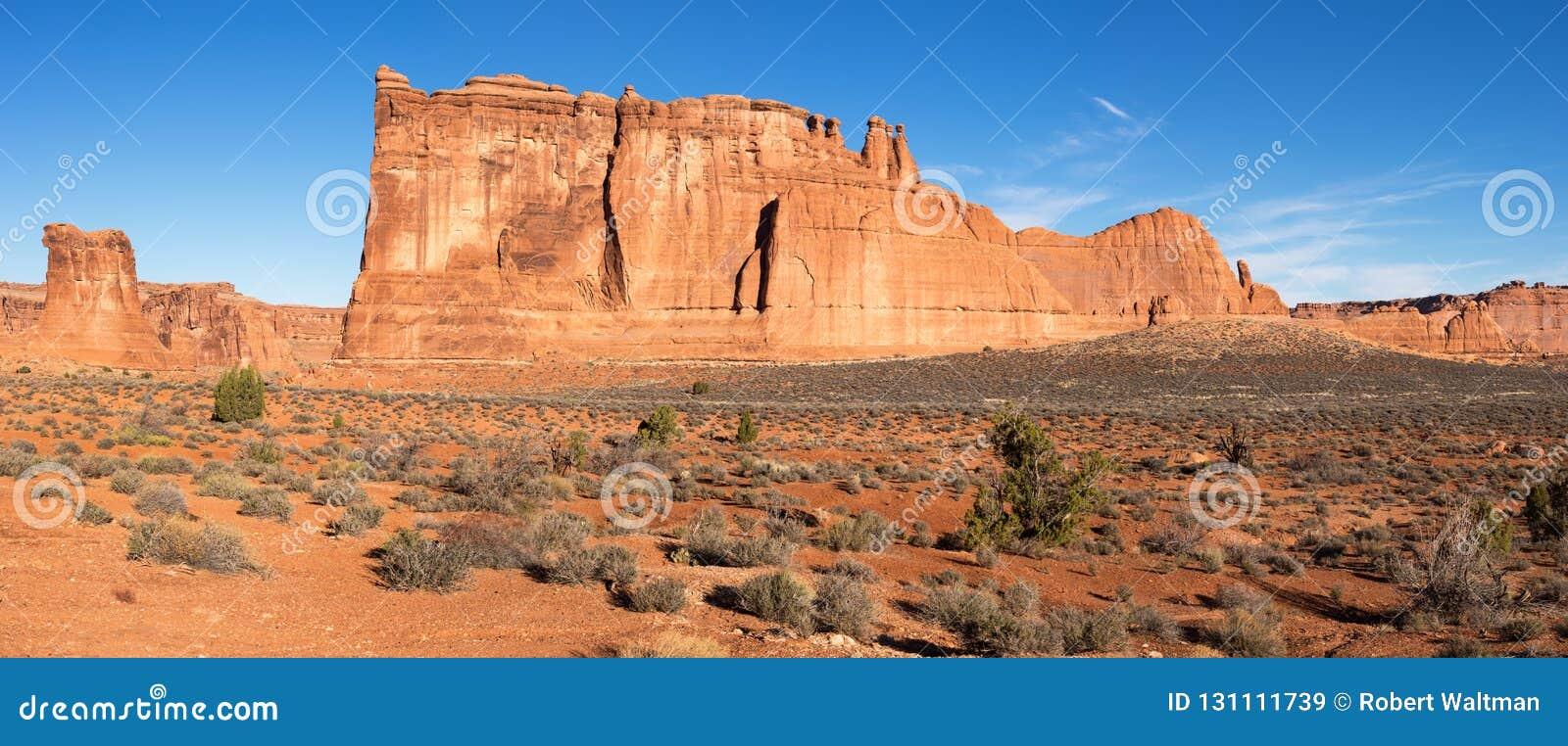 Torri di Babele nel parco nazionale Utah di arché