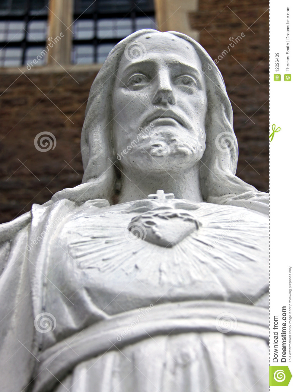 Torso / Bust Of A Religious Jesus Statue Stock Image ...