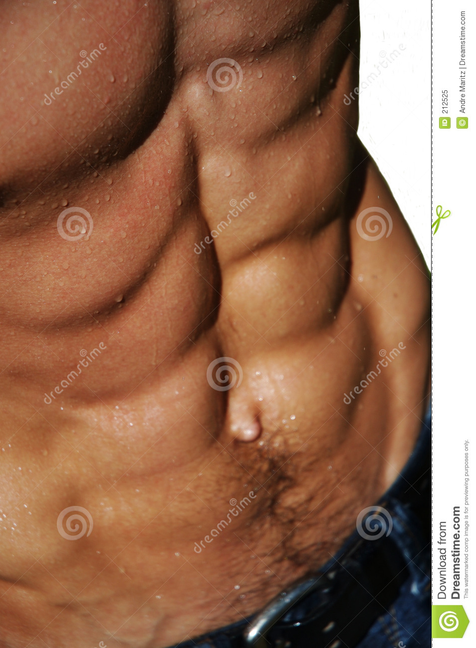 Torso maschio d increspatura