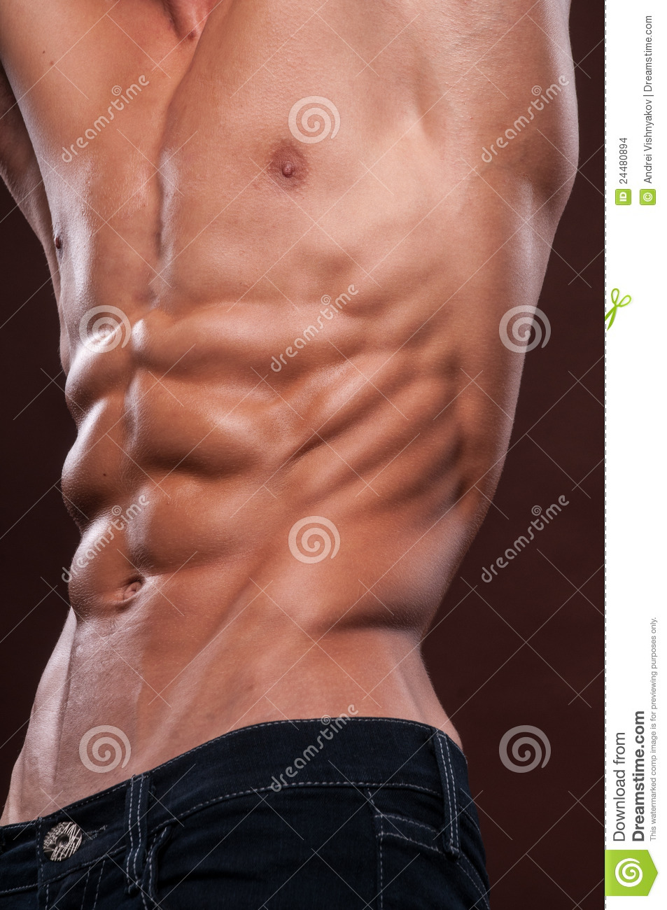 Torso with six pack stock image. Image of pack, abdomen
