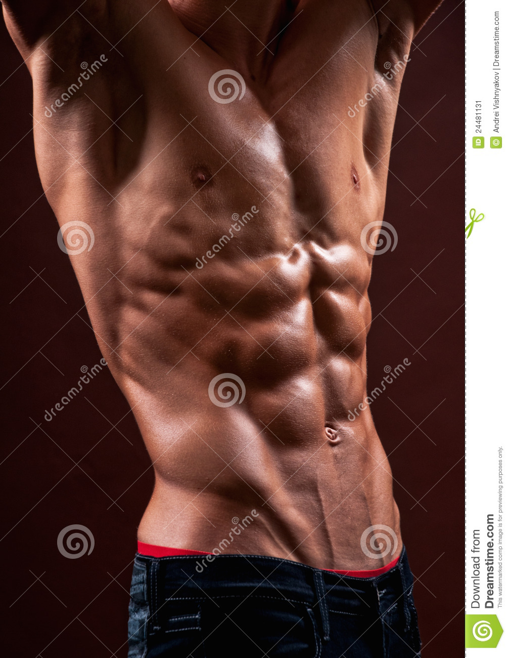 Torso with six pack stock photo. Image of male, exercise