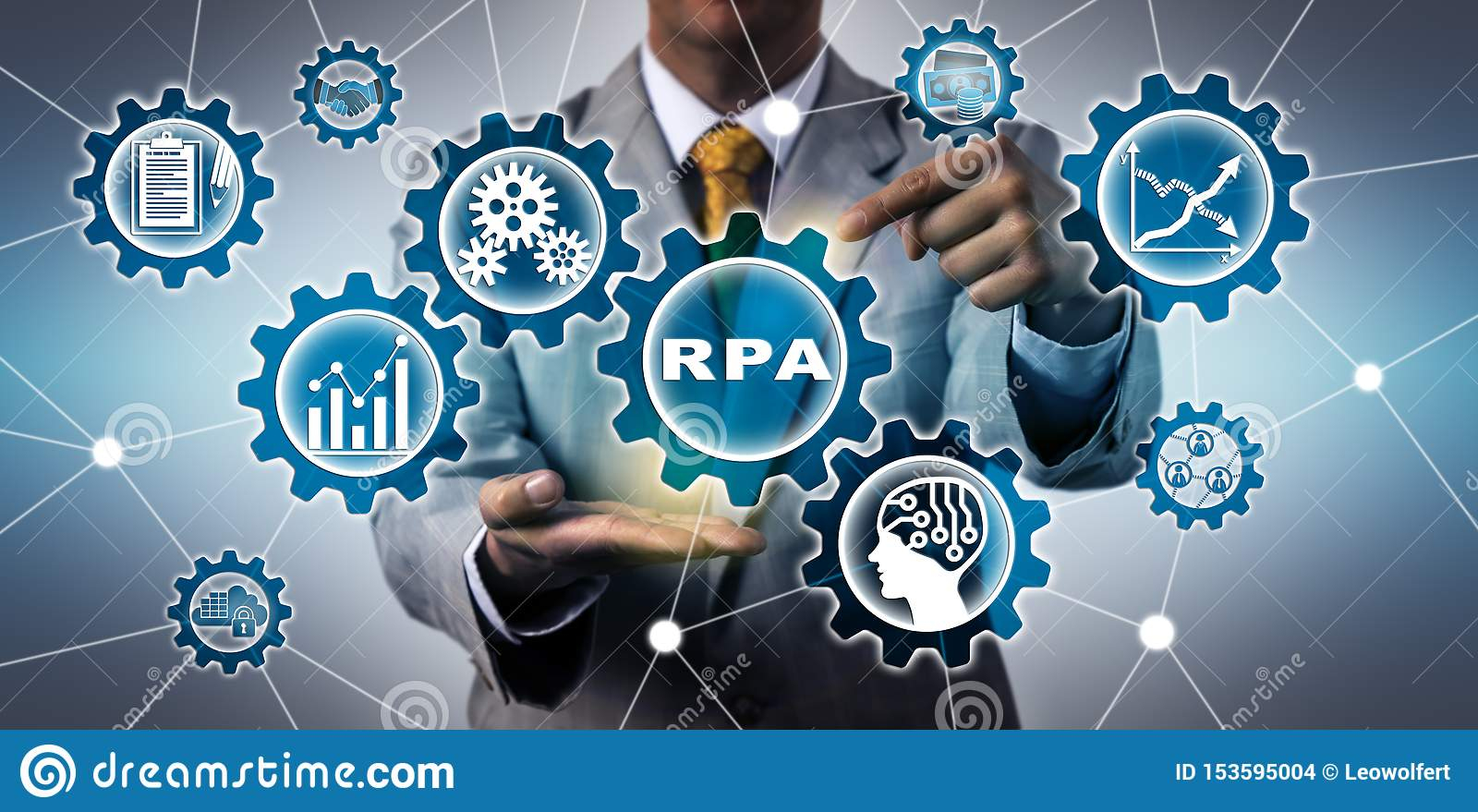 Torso van IT de Toepassing van ManagerActivating RPA