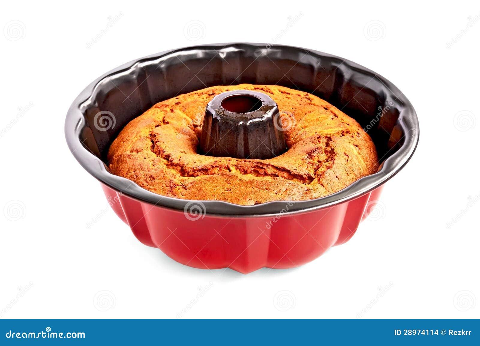 Tort świeżo piec w formie