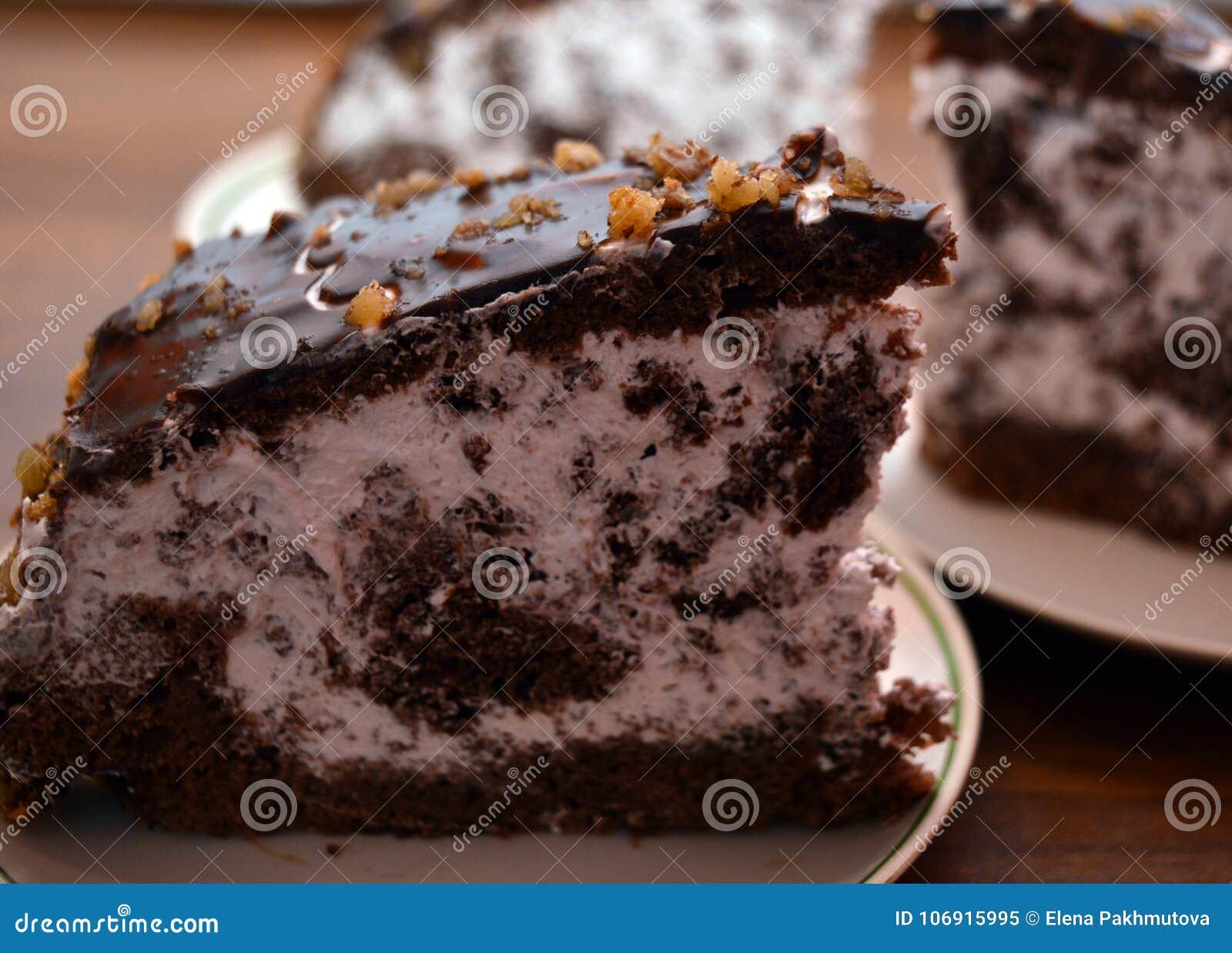 Tort, czekolada, deser, jedzenie, cukierki, talerz, wyśmienicie, brązowić, pokrajać, śmietanka, kawałek, kulebiak, ciasto, piekar