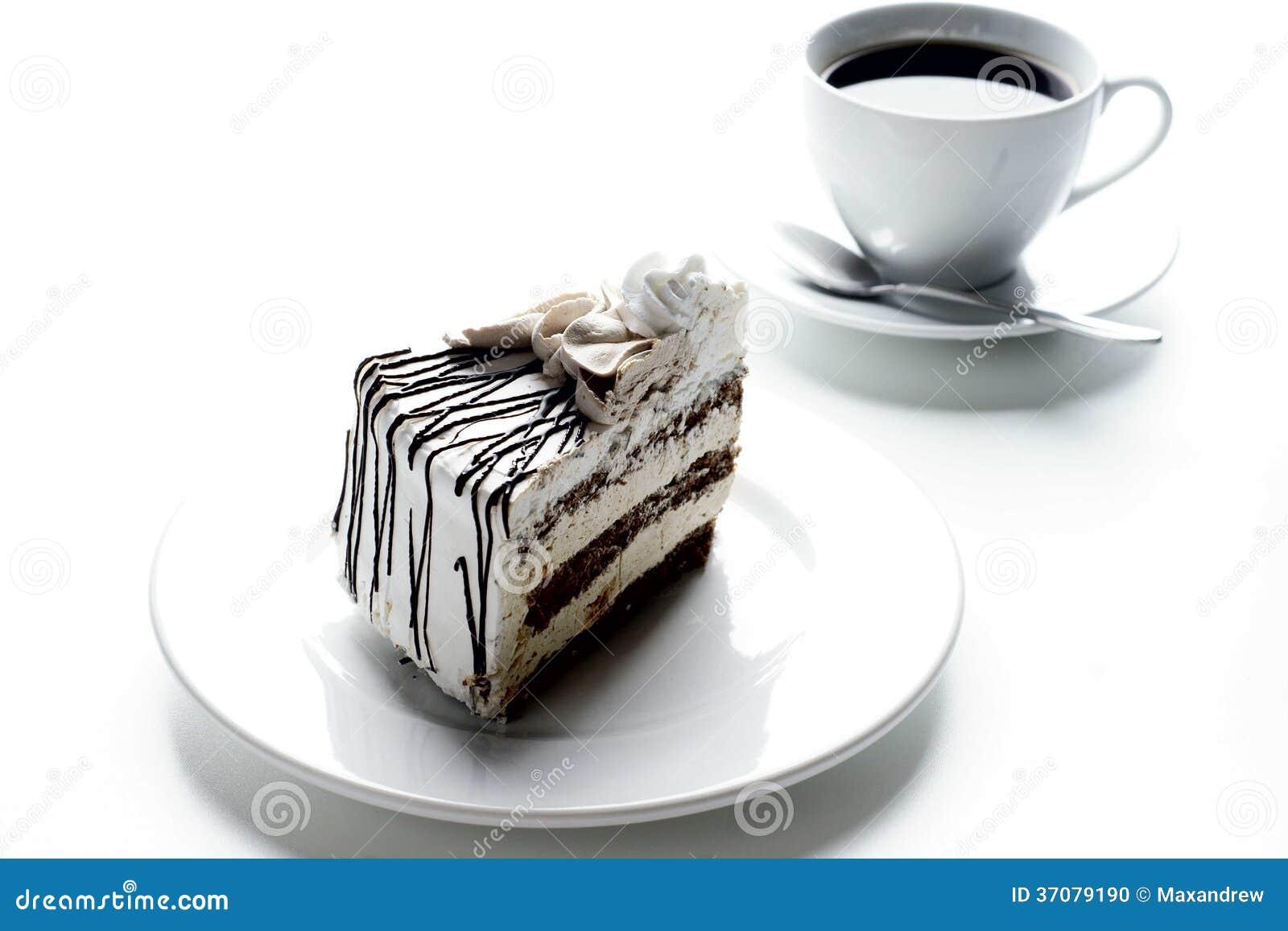 Download Tort i kawa zdjęcie stock. Obraz złożonej z piec, dekoracje - 37079190