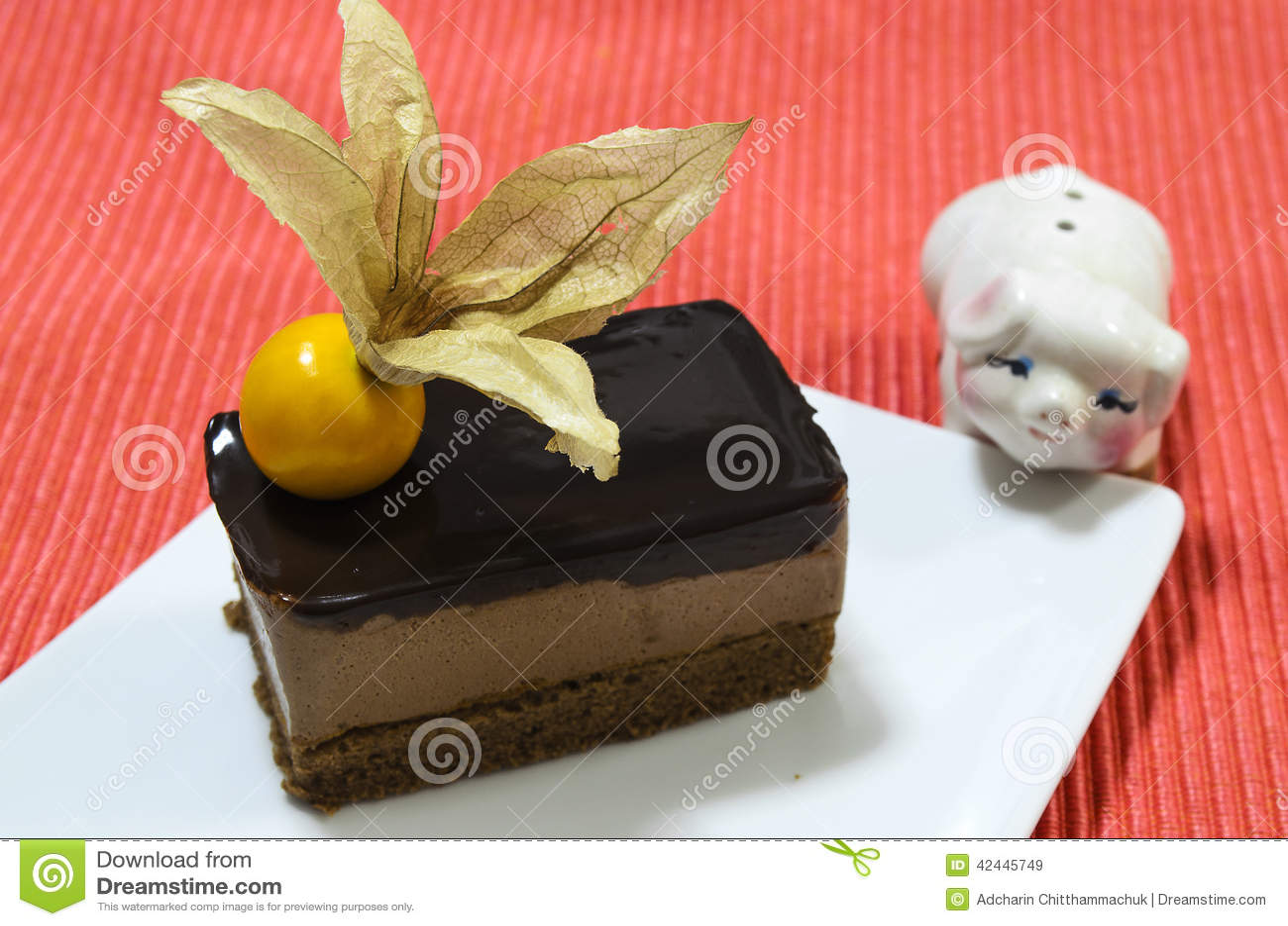 Torta anaranjada de la crema batida del queso de Choc