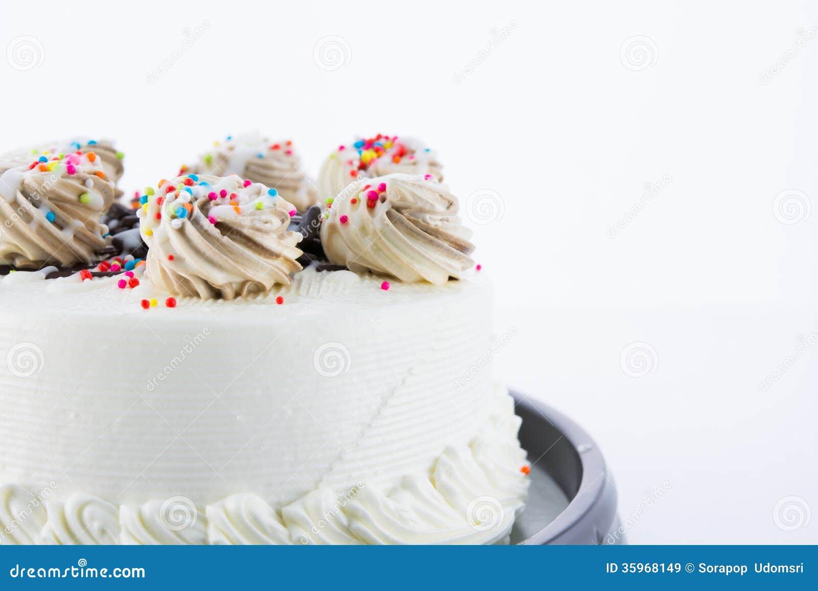 Torta blanca colorida