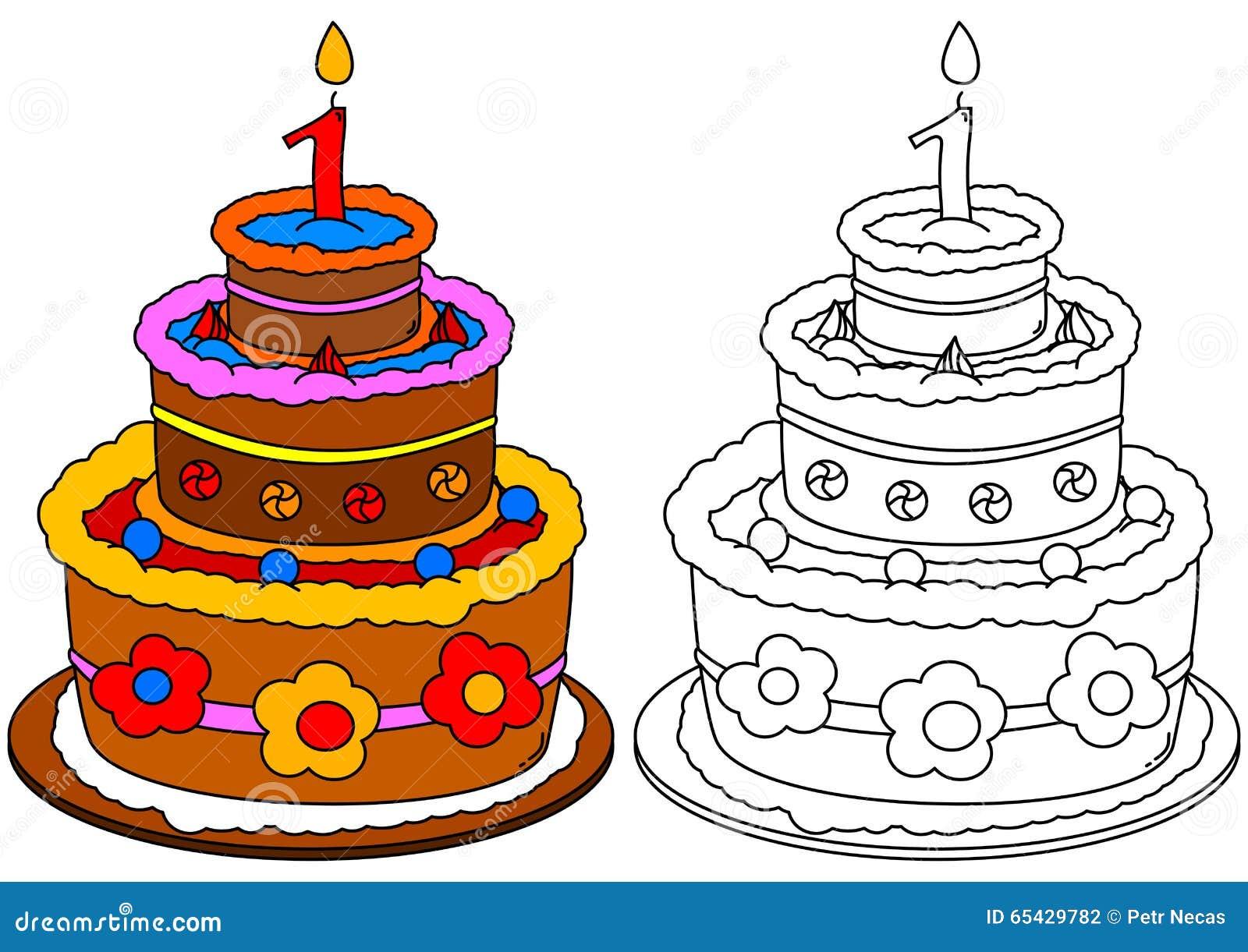 Torta Coloreada Con Una Vela Como Colorante Para Los Niños ...