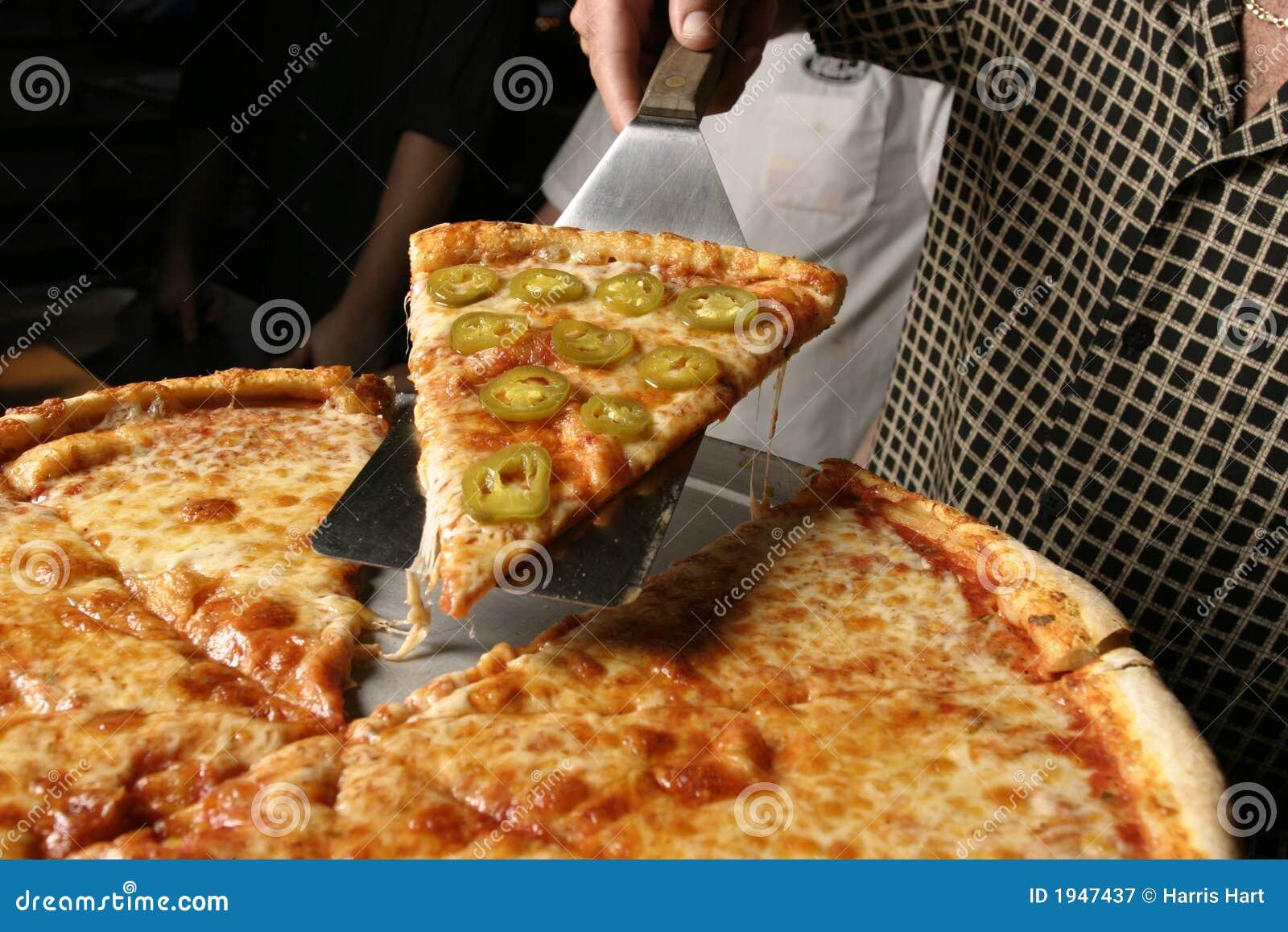 Torta da parte da pizza da pimenta