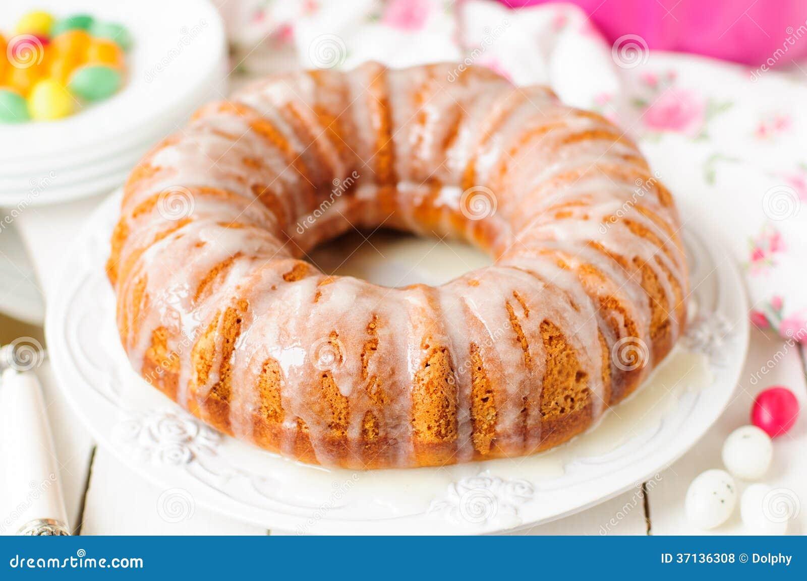 Torta de Bundt de la calabaza con Sugar Icing