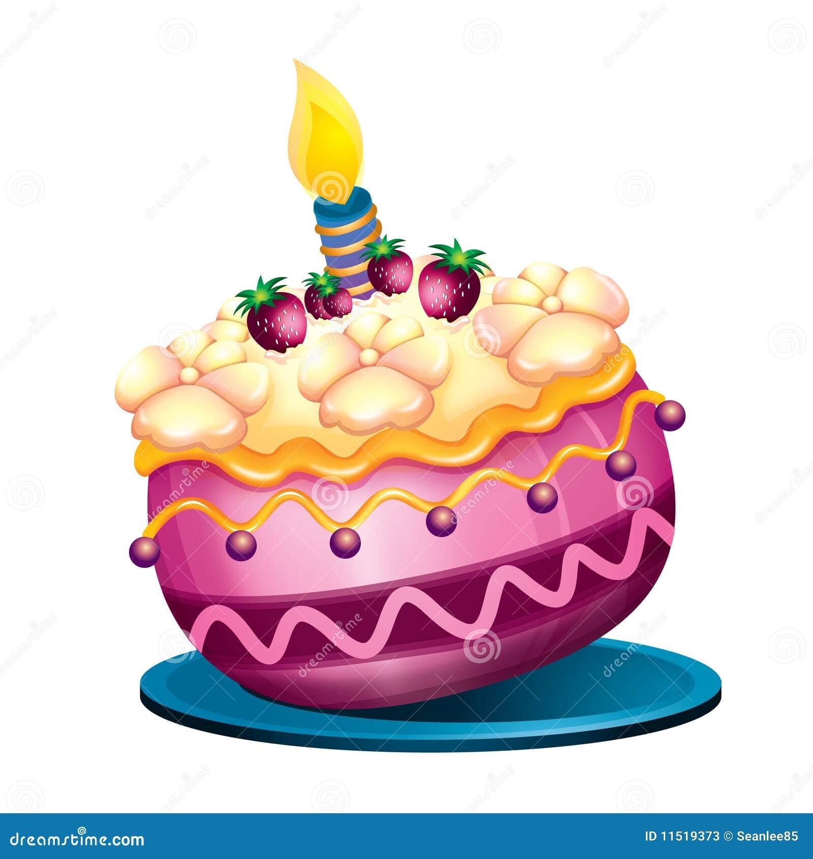 torta de cumplea os ilustraci n del vector imagen de