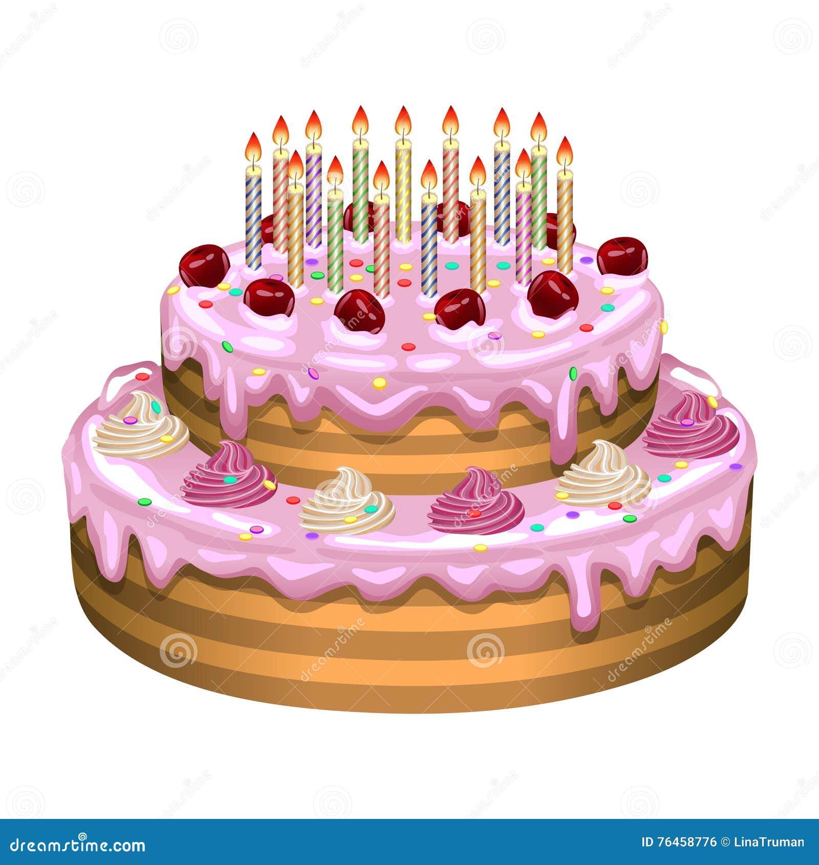 Perfecto Página Para Colorear Torta De Cumpleaños Regalo - Dibujos ...