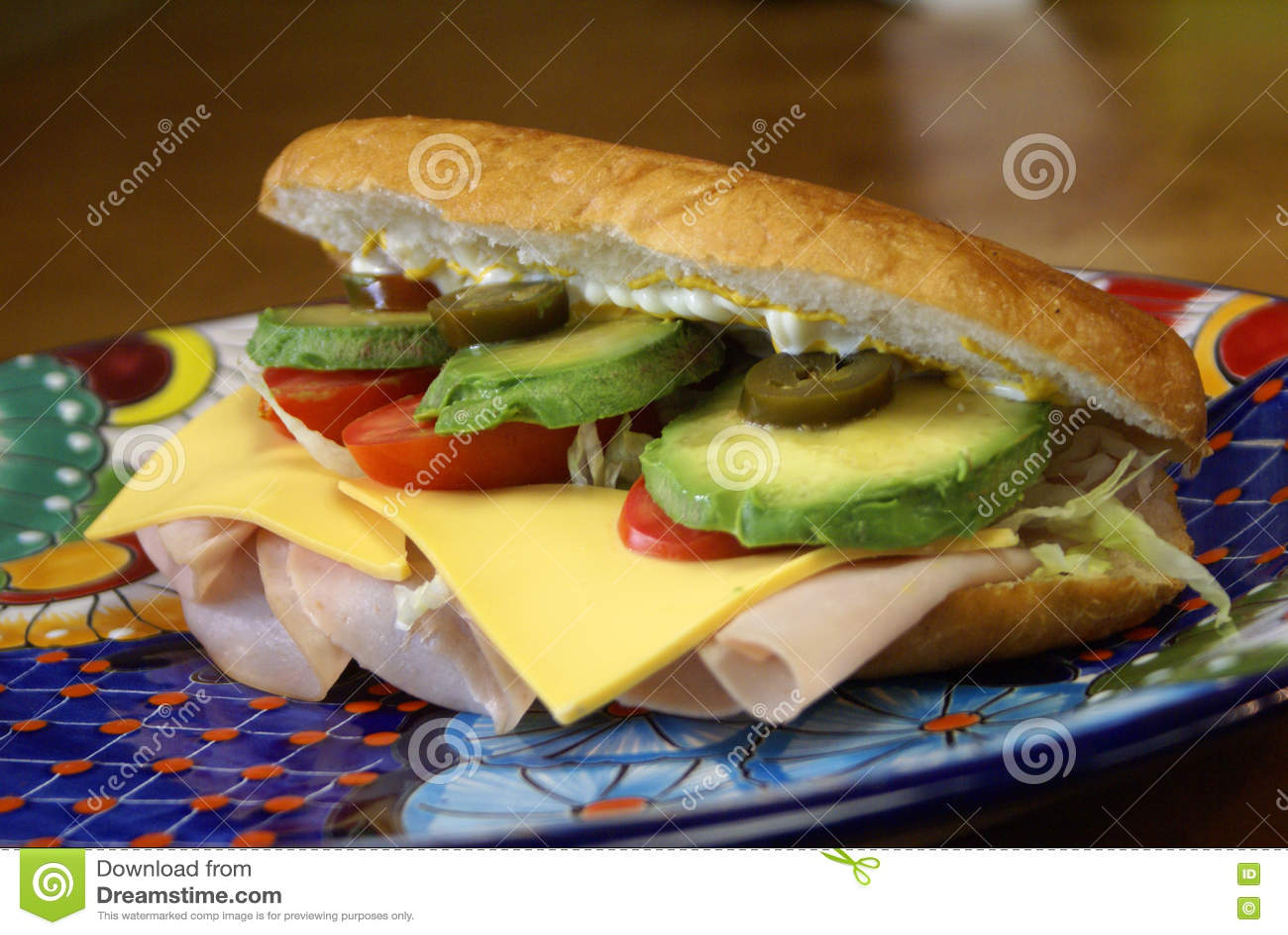 torta de jamon sandwich stock image image of avocado