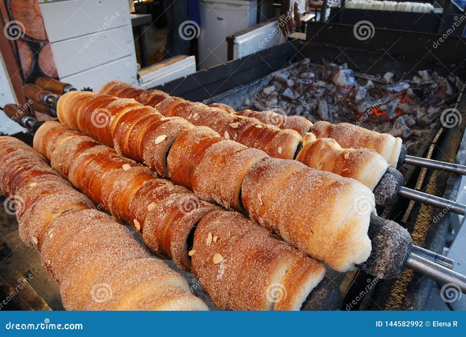 Torta de la chimenea - pasteles de la comida de la calle