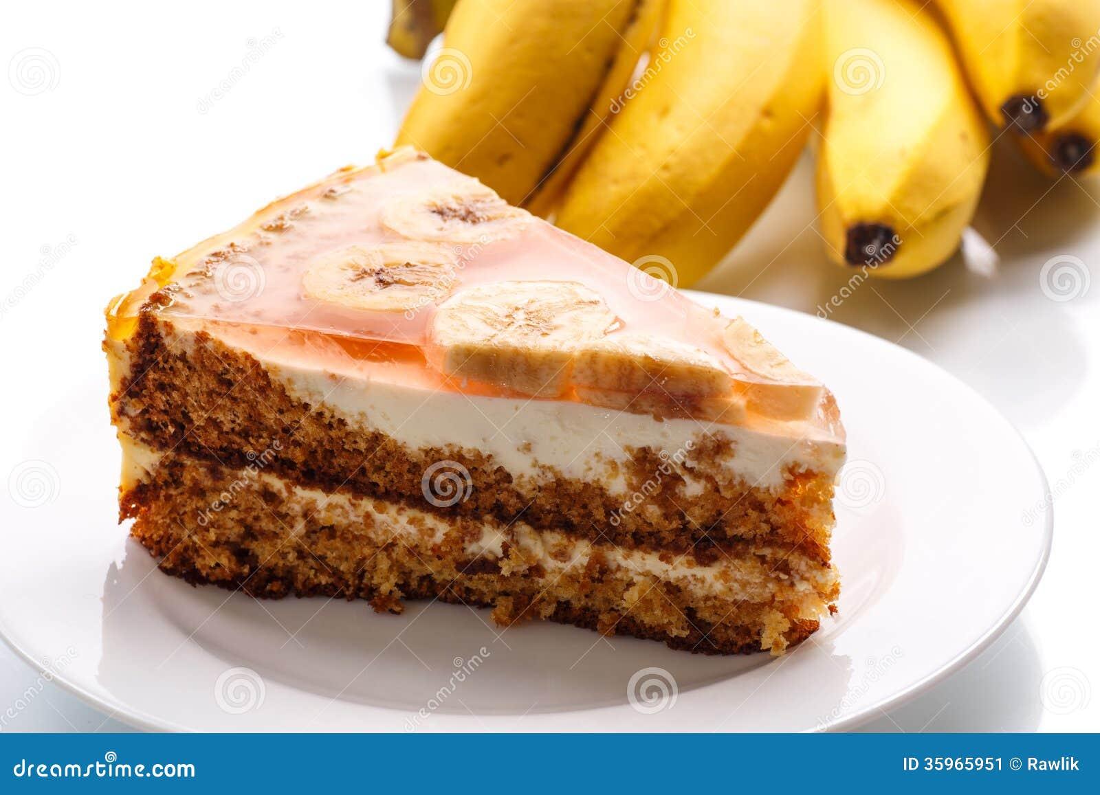 Torta de miel con los plátanos