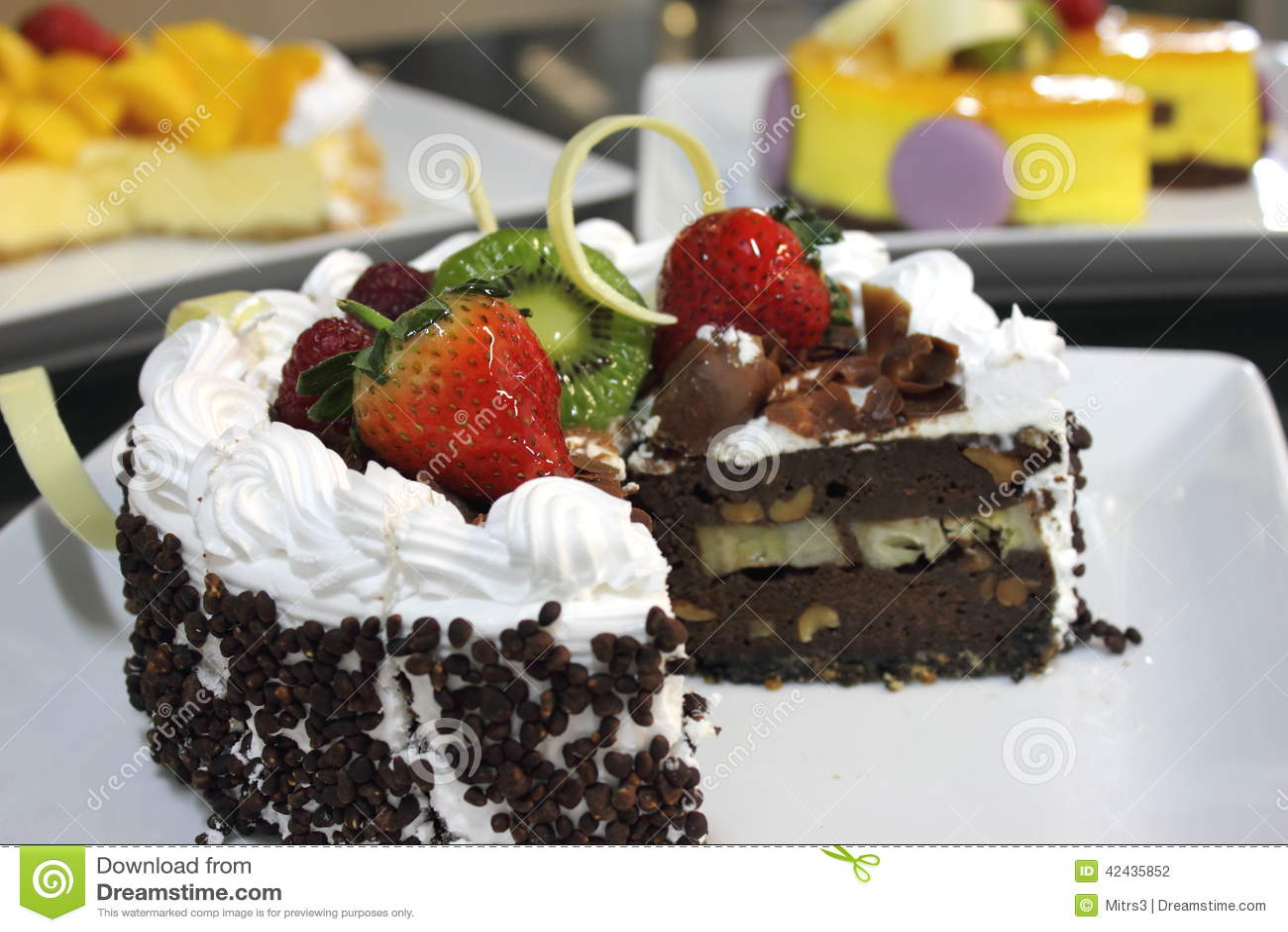 Torta del pan de jengibre con el chocolate