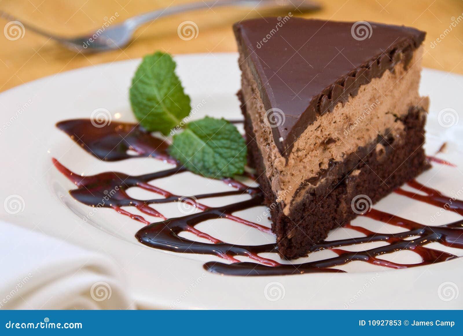 Torta della mousse del mocha del cioccolato