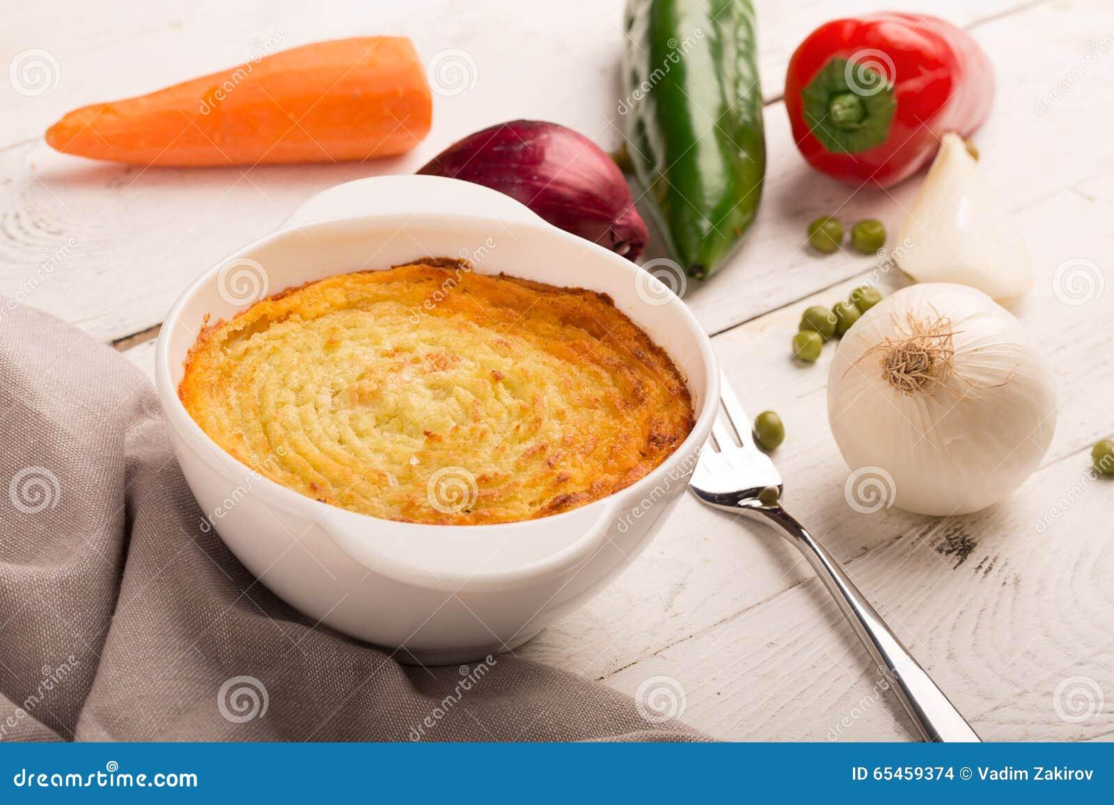 Torta di carne con la patata