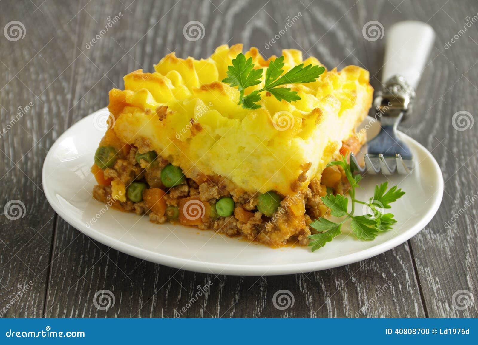 Torta Di Carne, Cucina Inglese Fotografia Stock - Immagine di carota ...