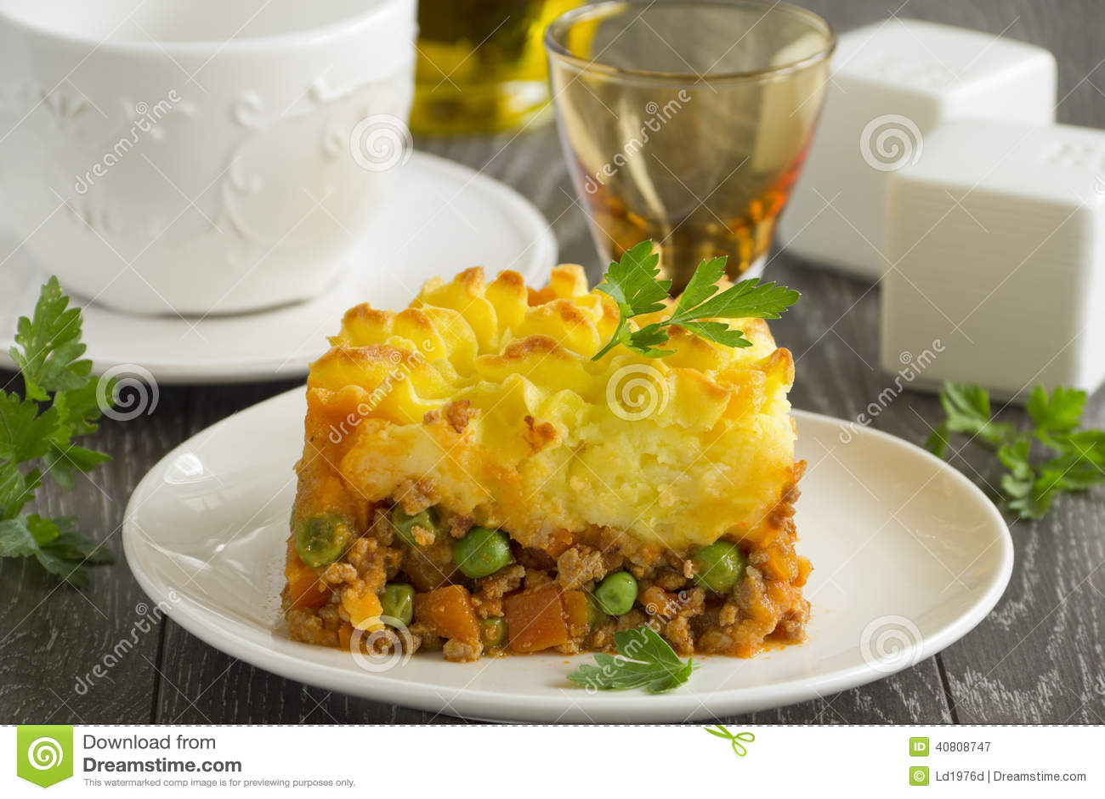 Torta Di Carne, Cucina Inglese Immagine Stock - Immagine di carne ...