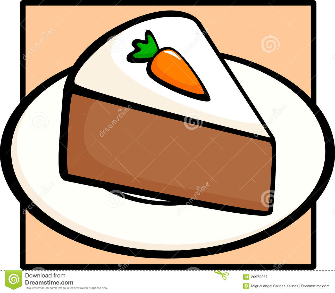 Carrots Cake Clipart