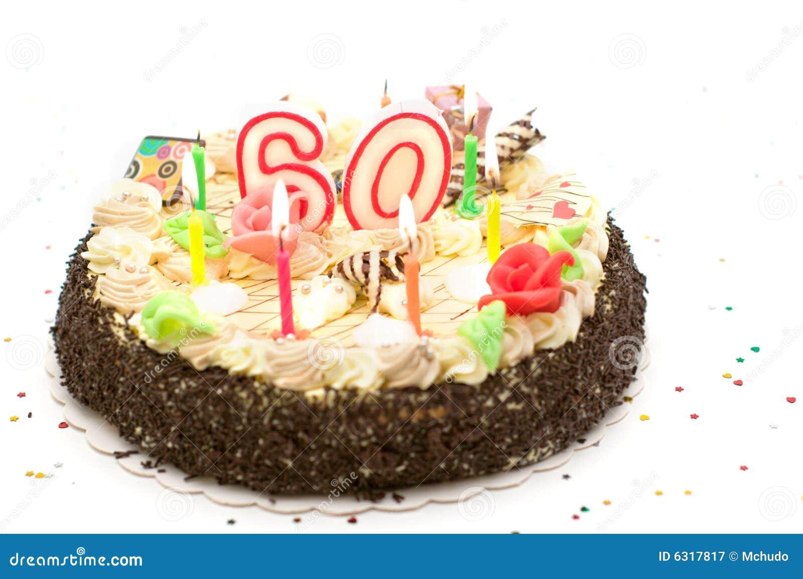 Torta Di Compleanno Per 60 Anni Di Giubileo Immagine Stock