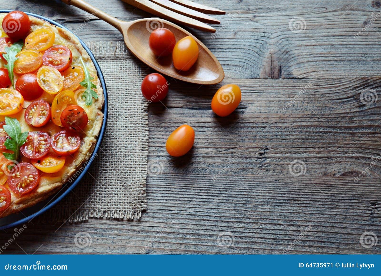 Torta di formaggio del pomodoro
