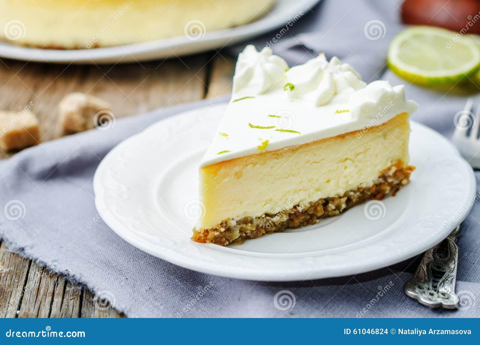 Torta di formaggio della calce