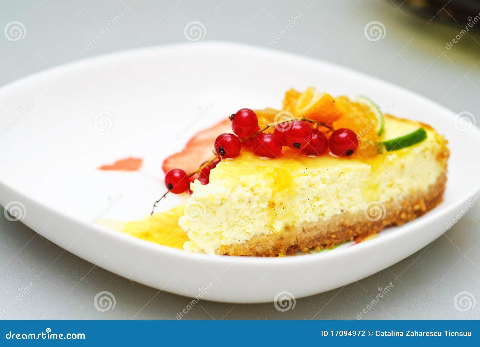 Torta di formaggio della vaniglia