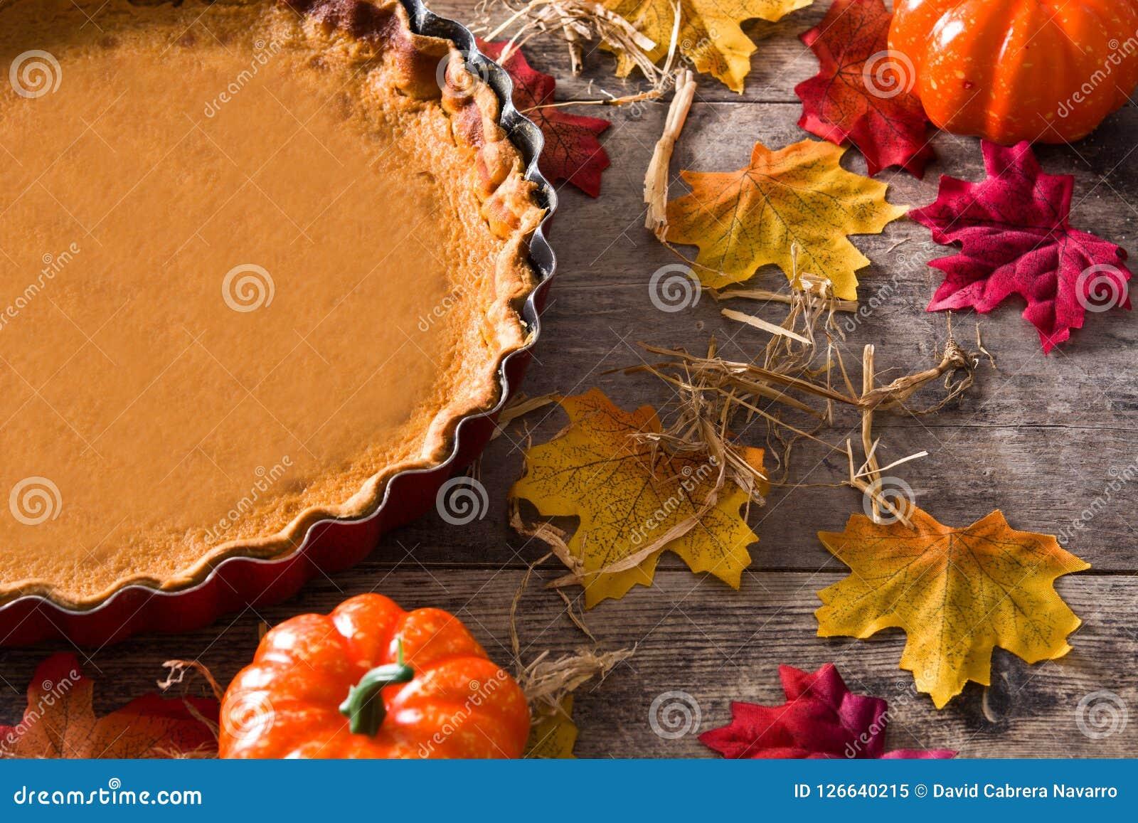 Torta di zucca tradizionale per il ringraziamento