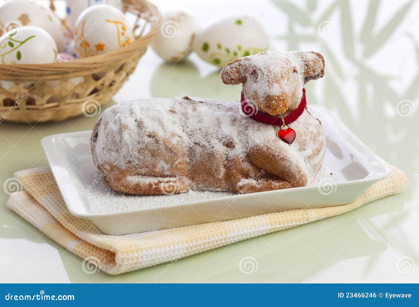 Torta tradicional del cordero de Pascua