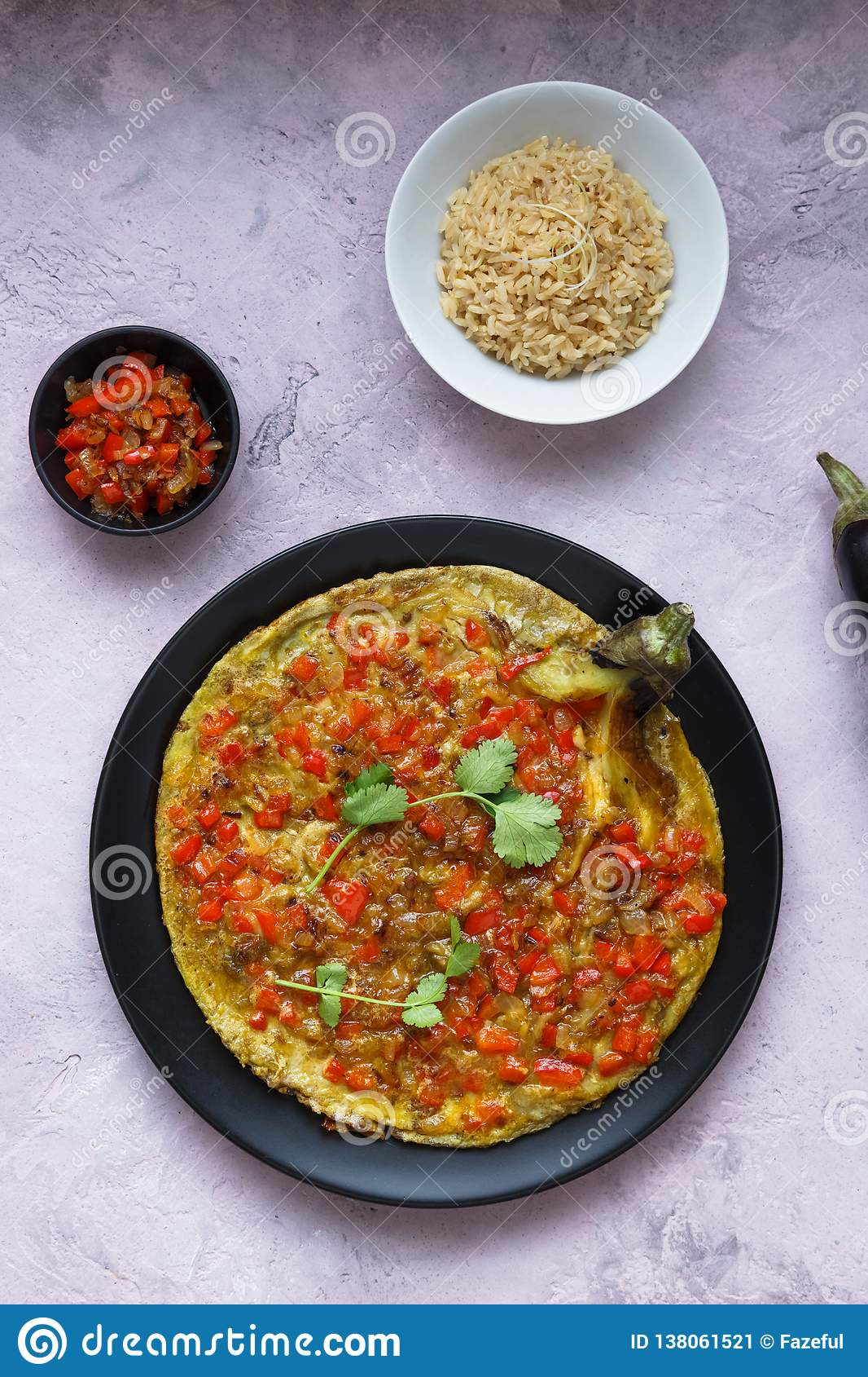 Tortang Talong With Giniling Eggplant Omelet With Ground Pork Filipino Food Stock Image Image Of Food Moussaka 138061521