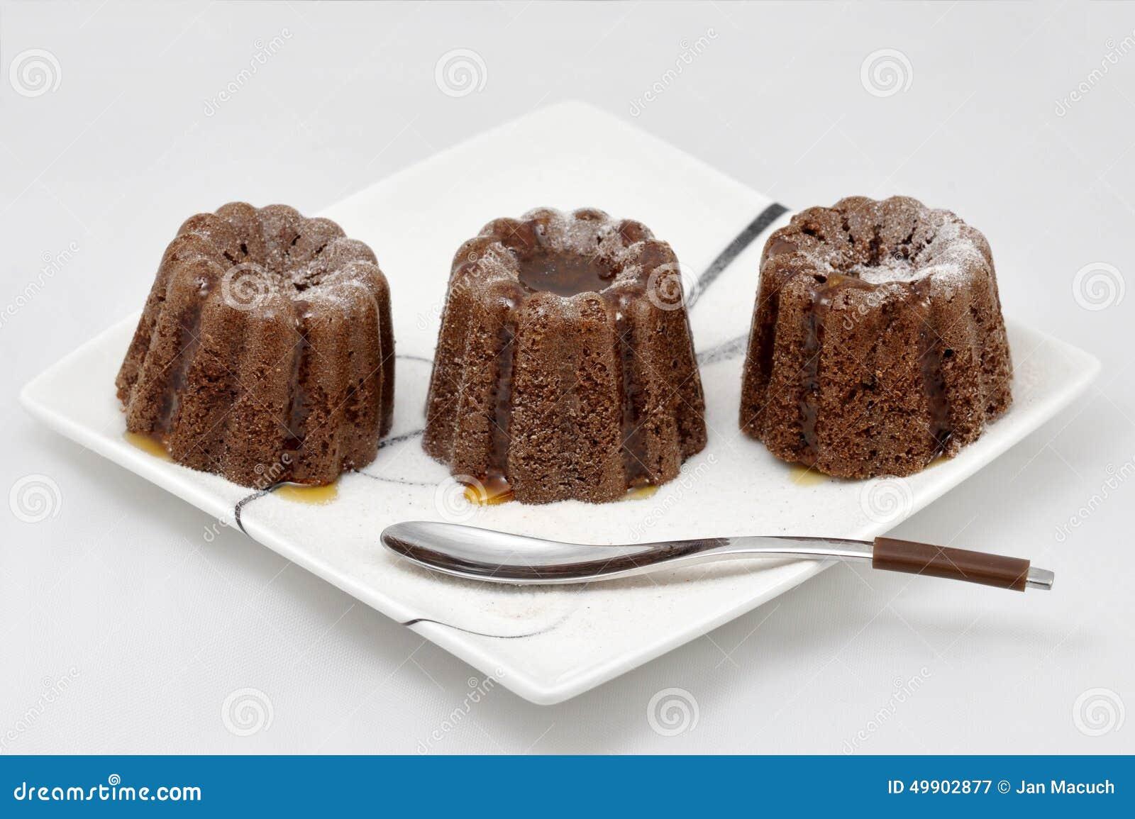 Tortas del atasco del ciruelo mini con el jarabe de arce