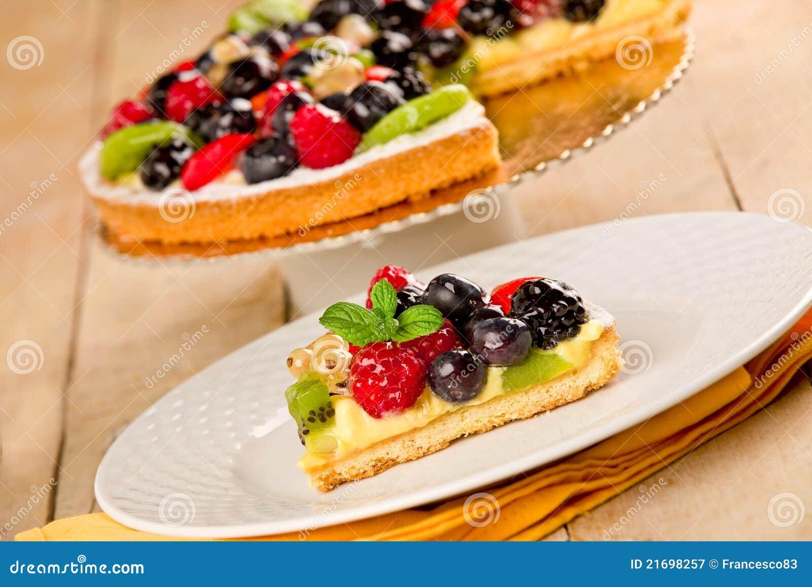 Torte mit fr chten lizenzfreie stockfotografie bild for Architektur torte