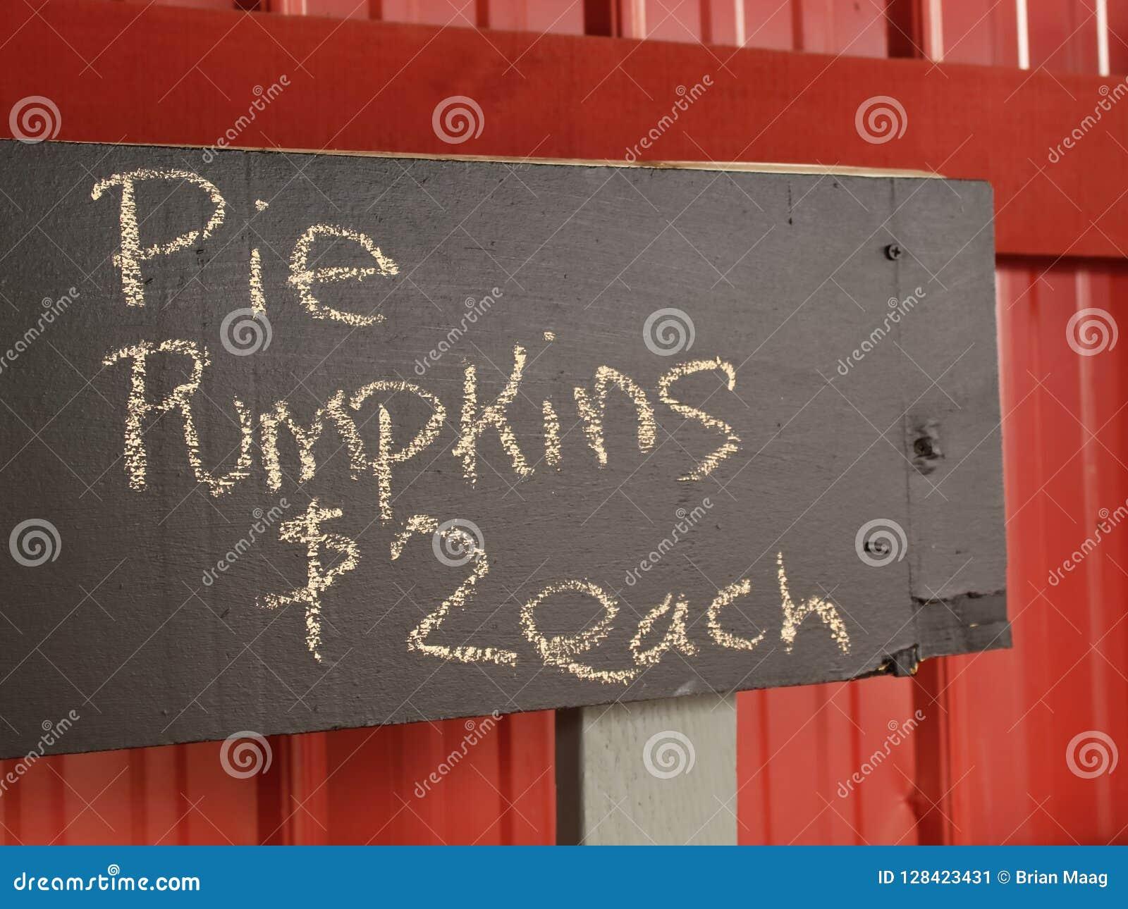 Torten-Kürbis-Verkaufs-Zeichen