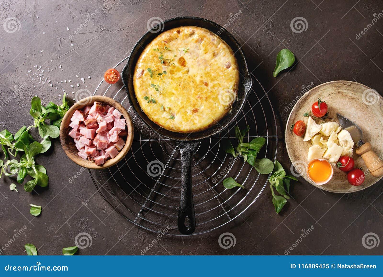 Tortiglia della patata con bacon