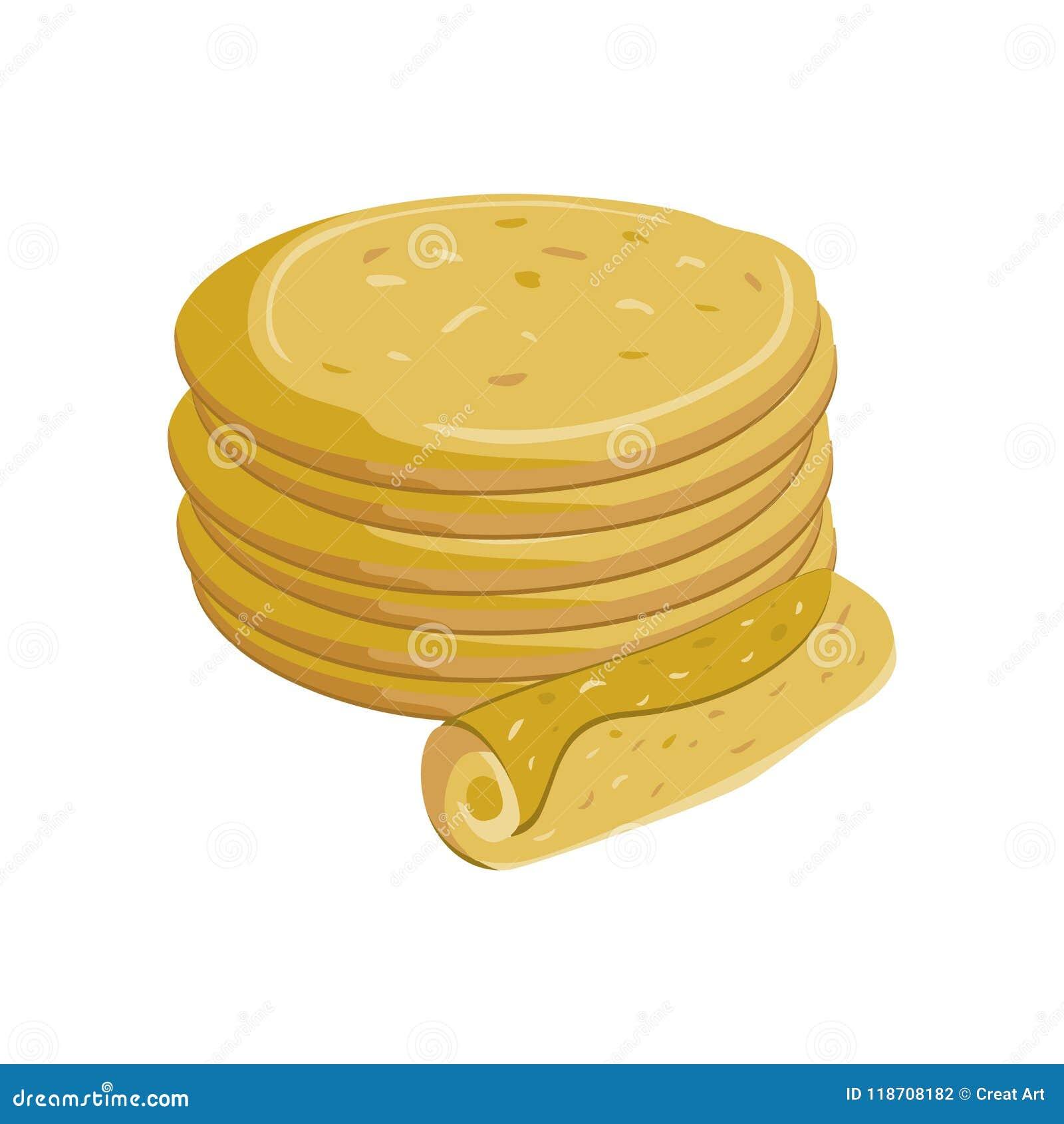 Tortilla Иллюстрация еды вектора Вектор иллюстрации Tortilla